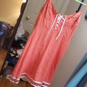 Free people mini lace up dress large